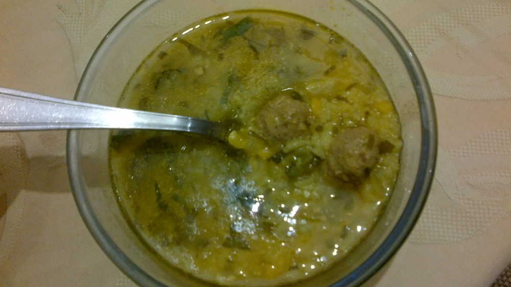 Aashe Maste - iranian yellow split peas and rice soup (2/2)