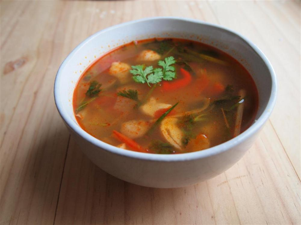 Tom Yum Gai soup