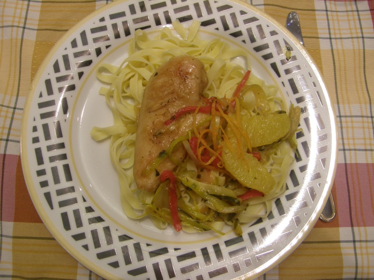 Chicken breast with orange sauce-1