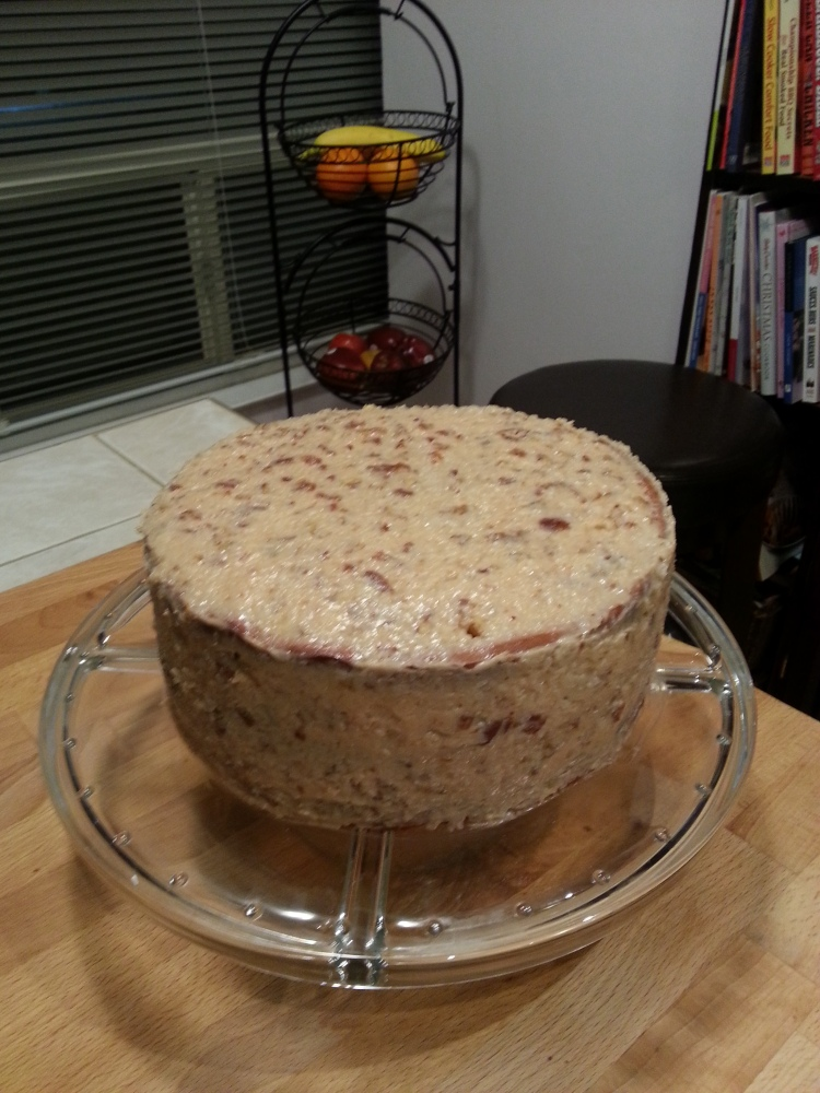 German chocolate cake with coconut -pecan filling-2