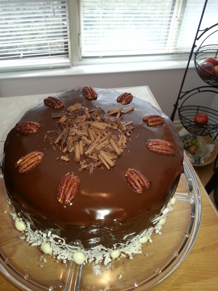 German chocolate cake with coconut -pecan filling-4