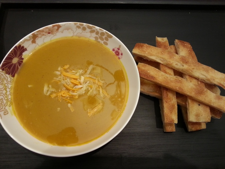 Roasted butternut squash soup-1