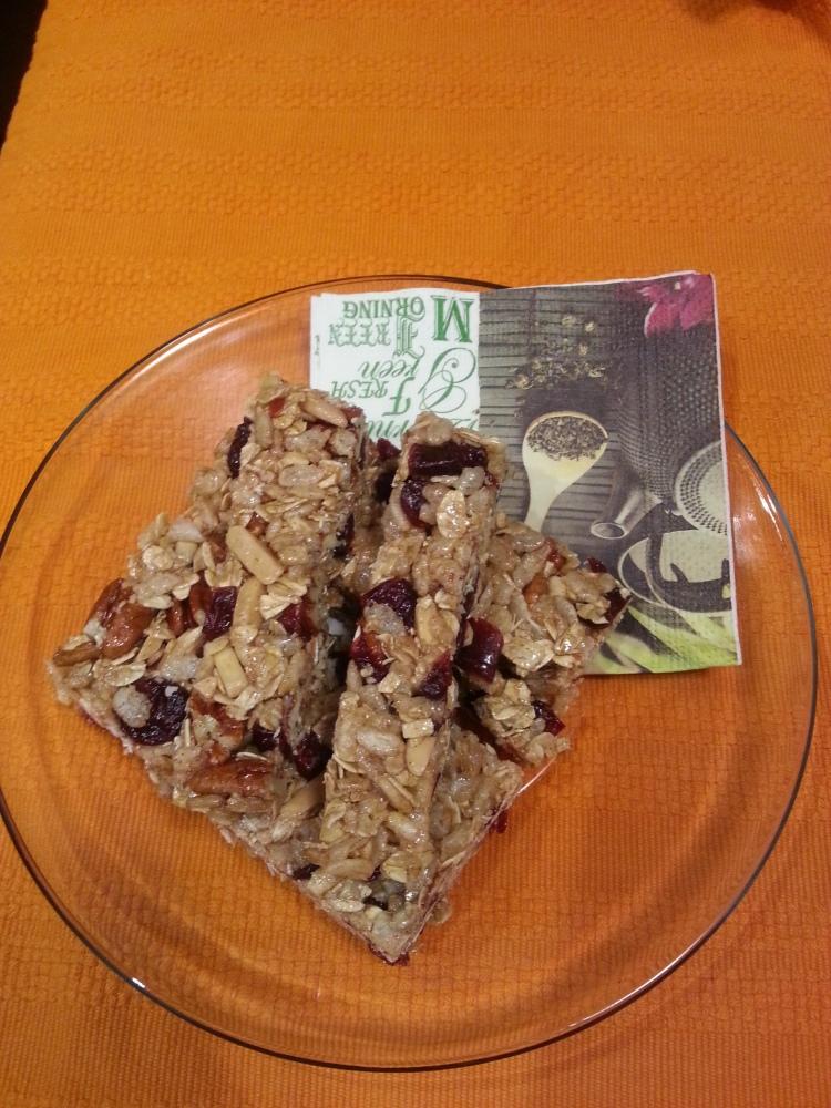 Cranberry Spice Granola Bars-1
