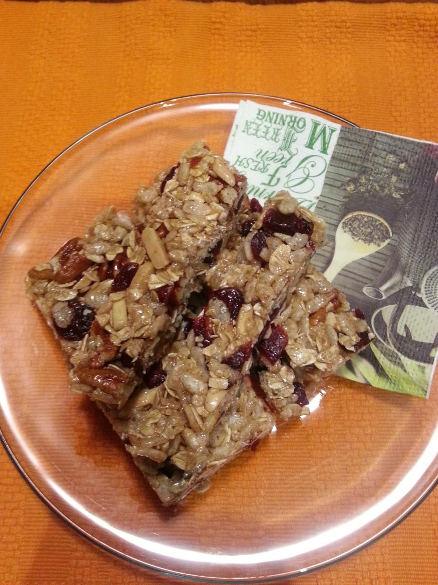 Cranberry Spice Granola Bars-2