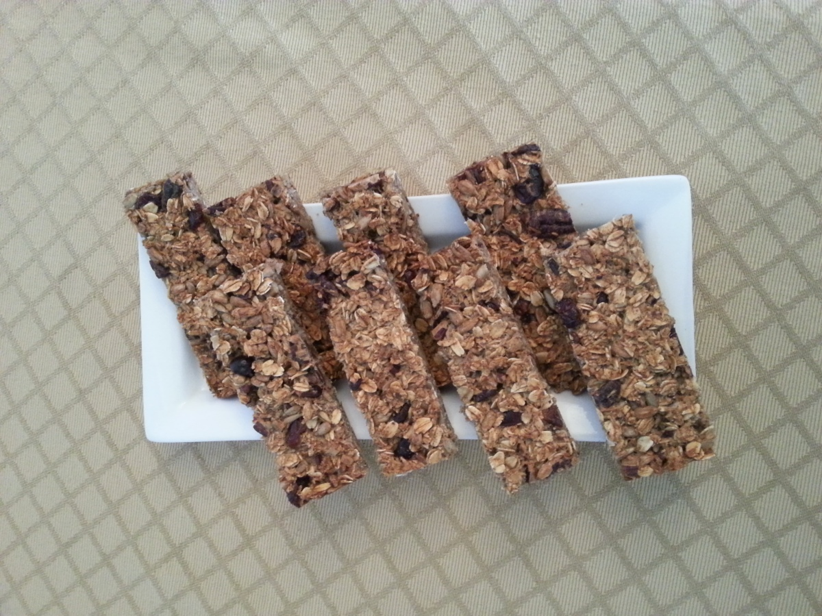 Homemade organic granola bar-2