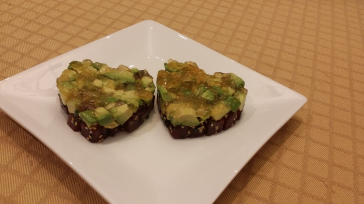 Tuna tartare with yuzu gelee